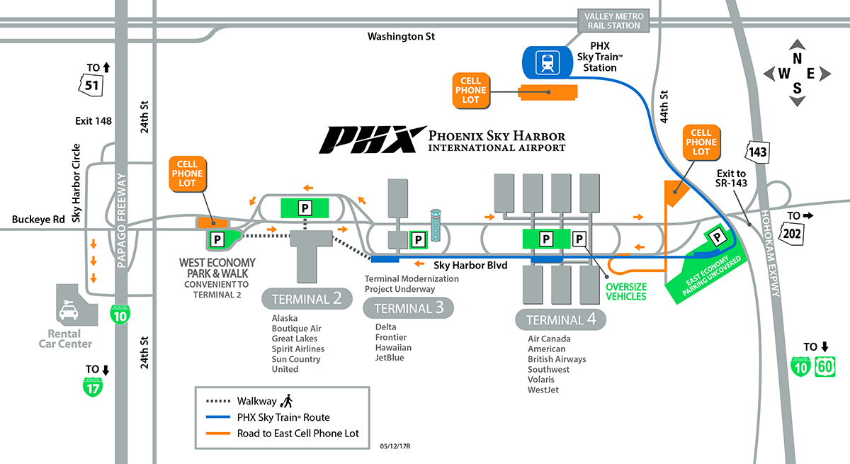 sky harbor map terminal 4 Phoenix Sky Harbor Spotting Guide Spotterguide Net sky harbor map terminal 4